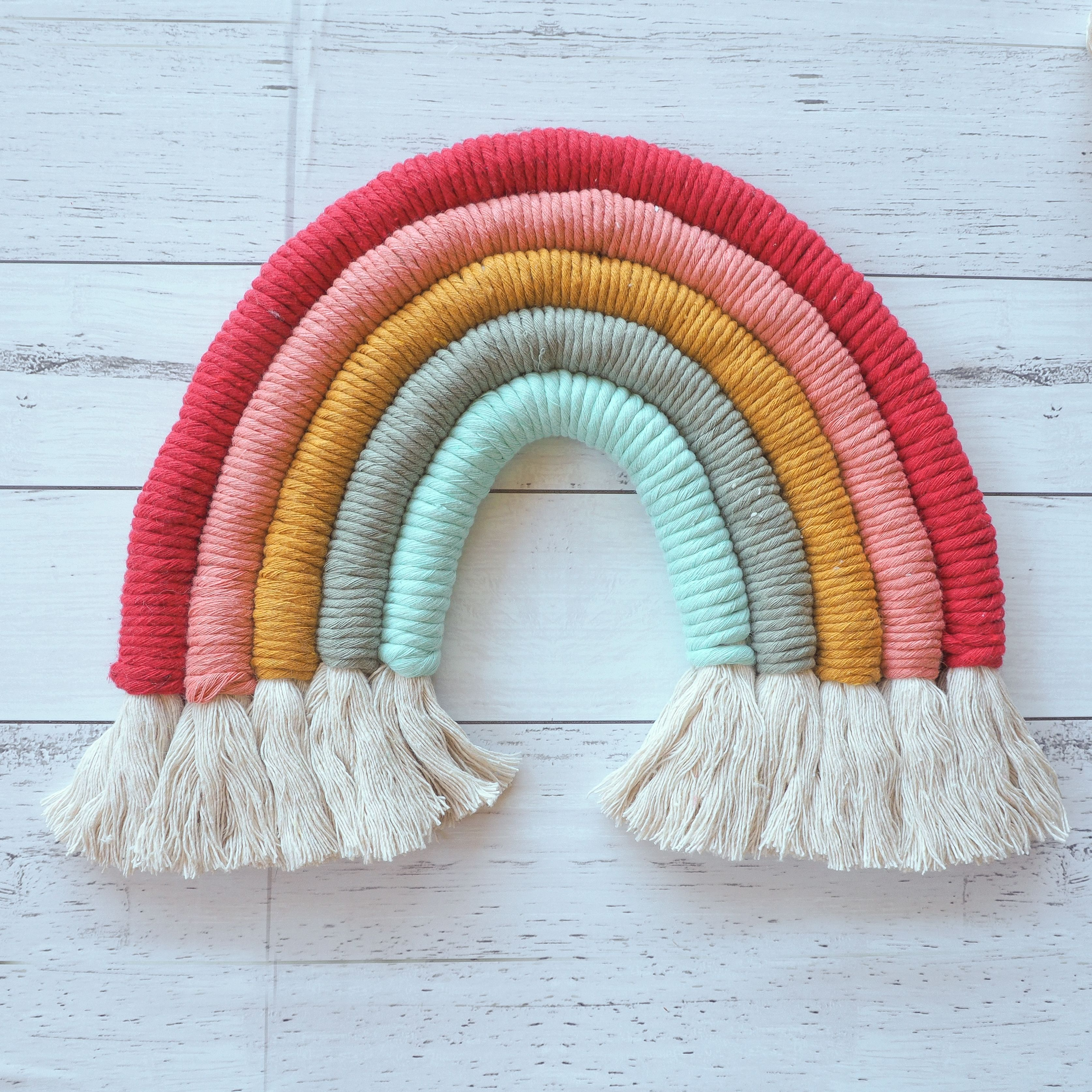 Cute Handmade Macrame Rainbow
