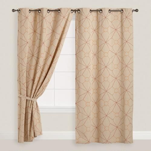 One Of My Favorite Discoveries At WorldMarket Geo Chambray Grommet Top Curtains