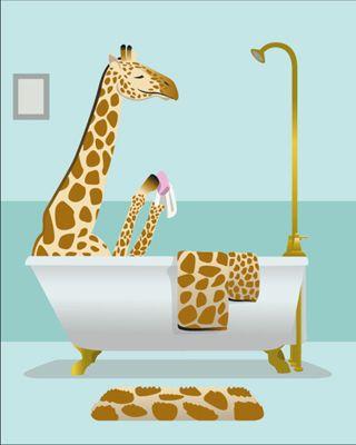 Delightful Giraffe Bathroom   Google Search