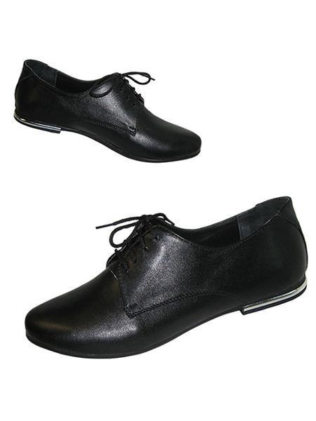 Женские кожанные ботинки на шнурках