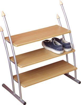 Praktisches Schuhregal Mit 3 Buchefarbenen Ablagen Regal Schuhregal Willkommen Zuhause