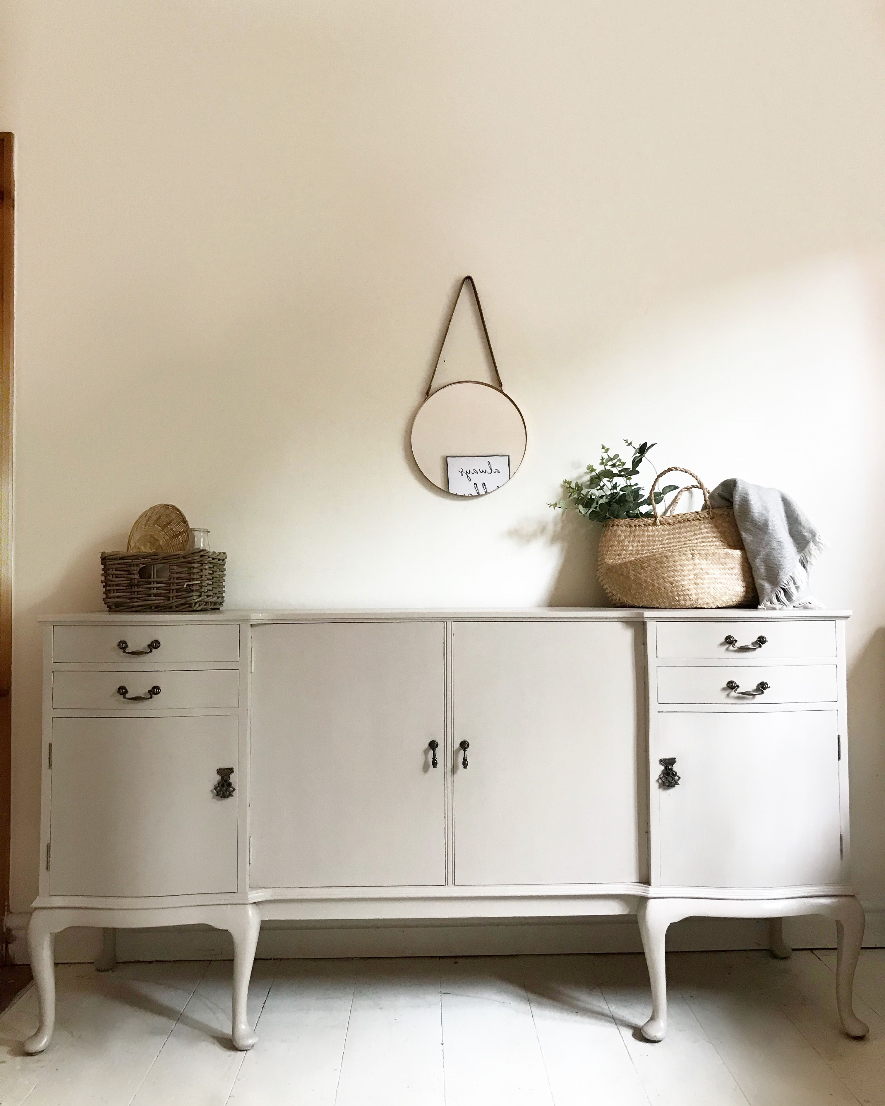 French Style Sideboard In Cathedral Taupe By Fusion Mineral Paint