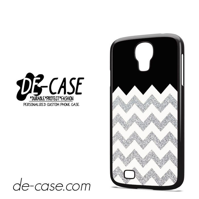 Silver Glitter Chevron DEAL-9592 Samsung Phonecase Cover For Samsung Galaxy S4 / S4 Mini