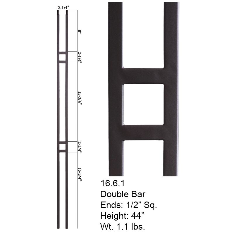Best Aalto Collection 16 6 1 Double Bar Baluster Cheap 400 x 300