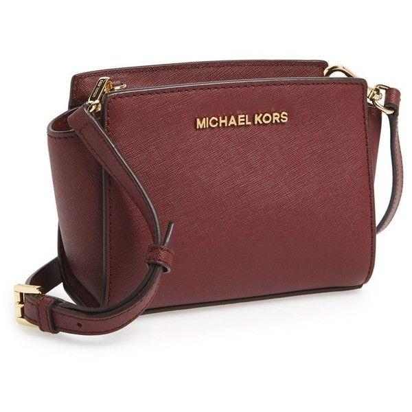 5a60b74c877e Women's MICHAEL Michael Kors 'Selma - Mini' Saffiano Leather Messenger...  ($110) ❤ liked on Polyvore