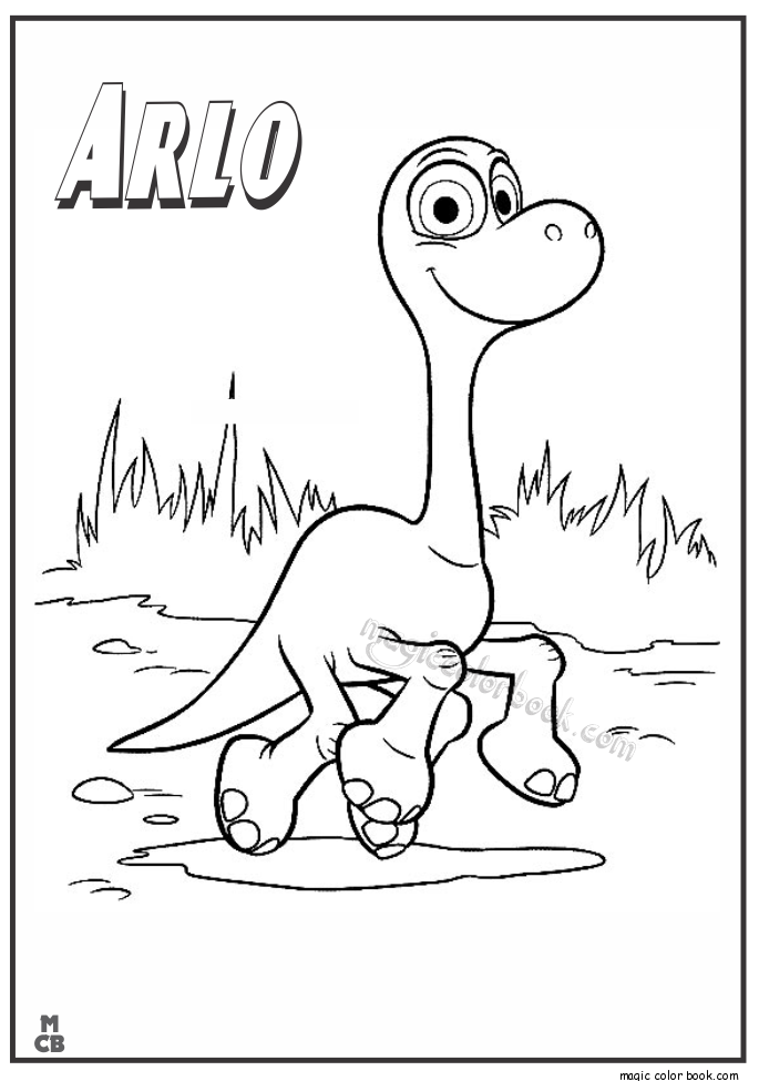 Pin By Magic Color Book On The Good Dinosaur Coloring Pages