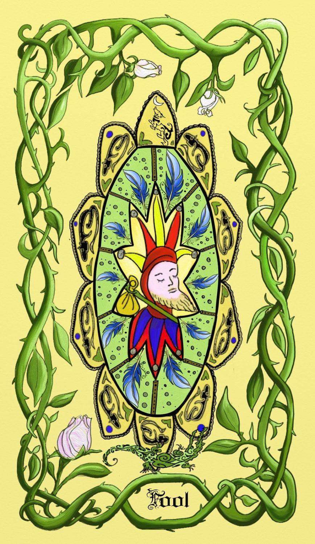 Signed Print of Original Painting Tarot Card Fool Spiritual Mandala ...