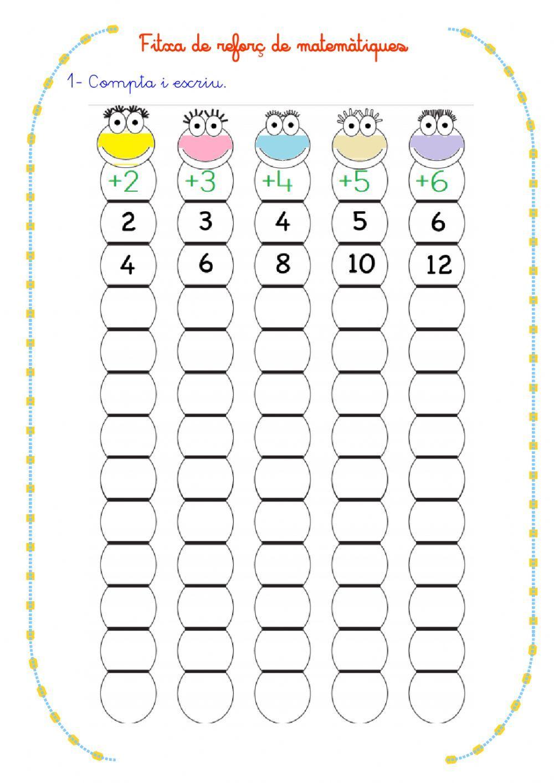 Càlcul Mental Ficha Interactiva Y Descargable Puedes Ha Cuadernos Interactivos De Matemáticas Matematicas Primero De Primaria Juegos Didacticos De Matematicas