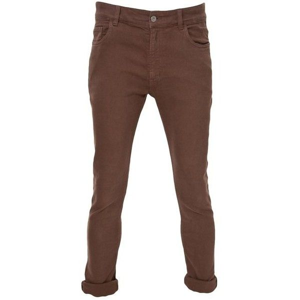 Crafted Skinny Jeans Brown Mens 38W x 36L ($20) ❤ liked on Polyvore featuring mens