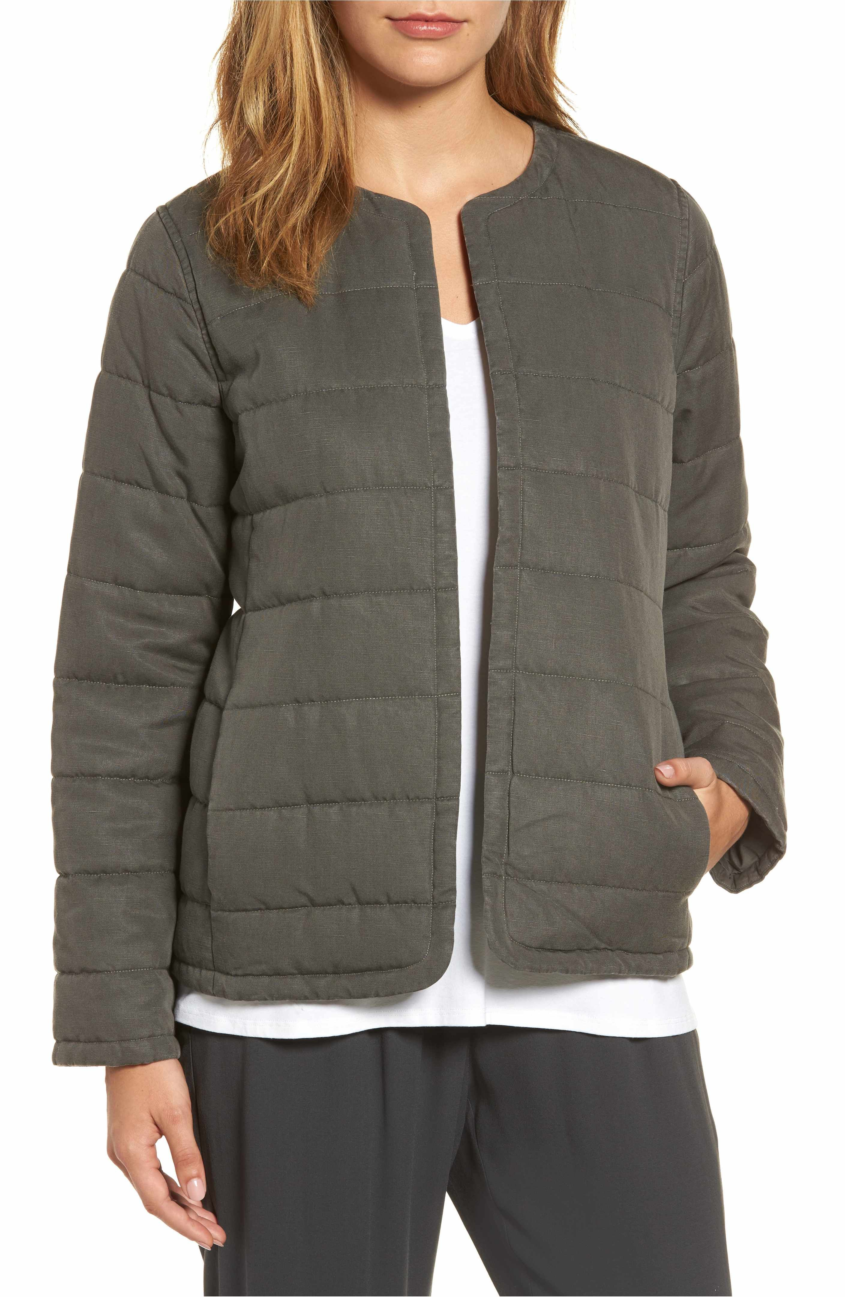 Eileen Fisher Collarless Quilted Jacket Nordstrom Quilted Jacket Jackets Collarless [ 4320 x 2816 Pixel ]
