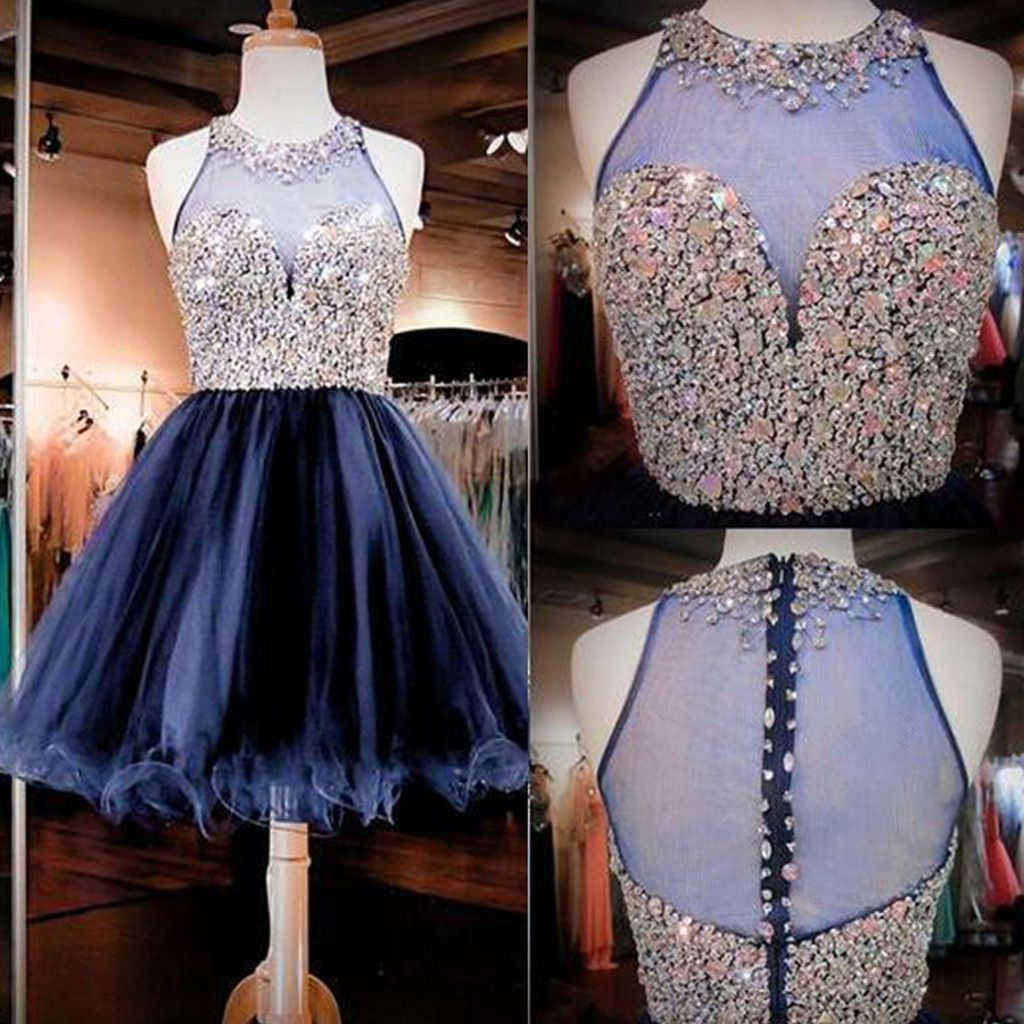 Short aline royal blue sweetheart halter clairvoyant outfit tulle