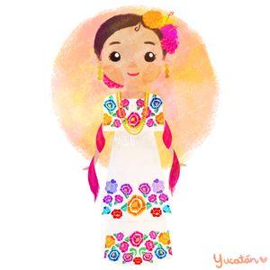 Mxico colores y diseos de sus trajes tpicos Yucatn  trajes