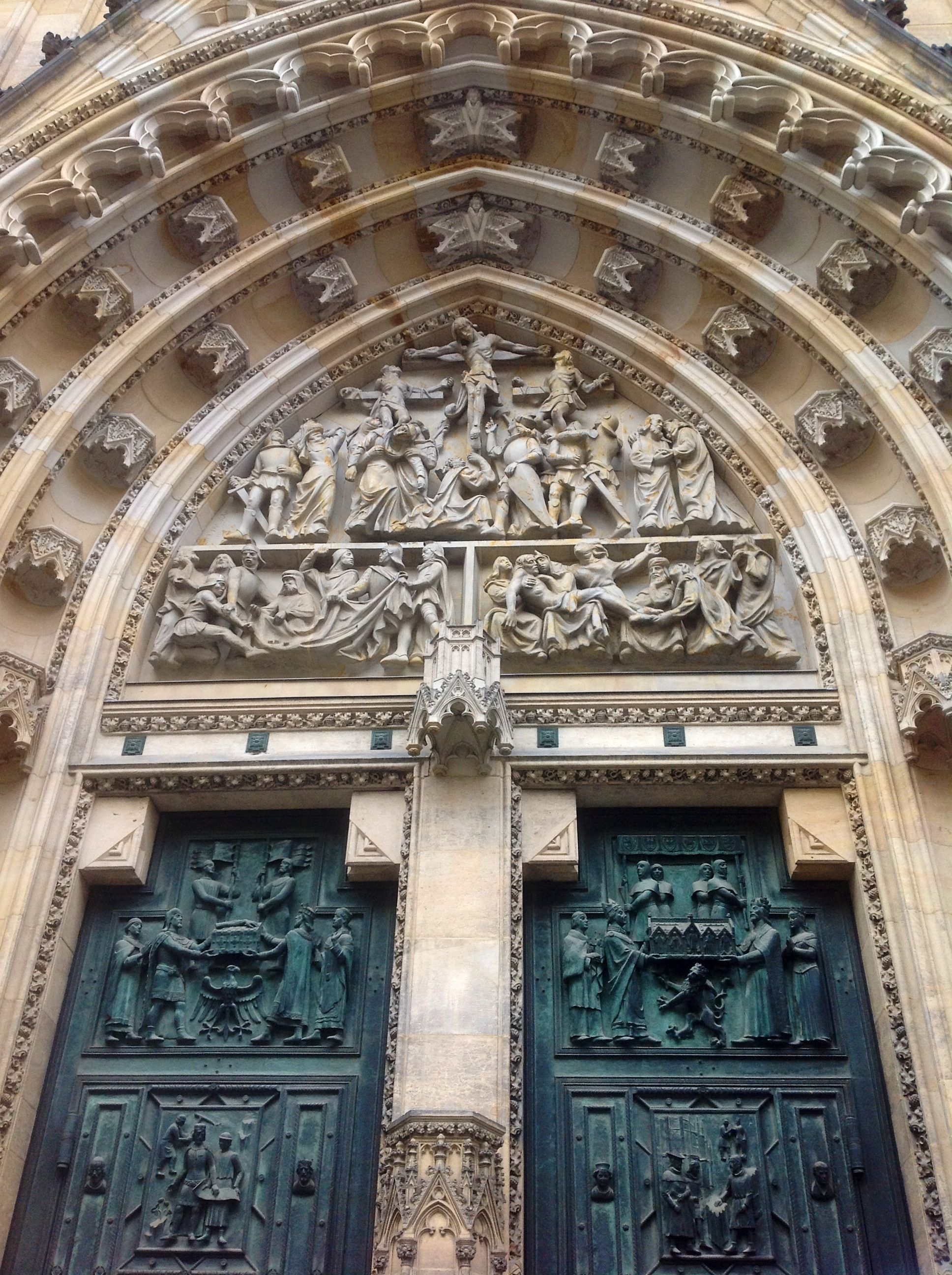 Prague: West portal of St St Vitus' cathedral at Prague Castle