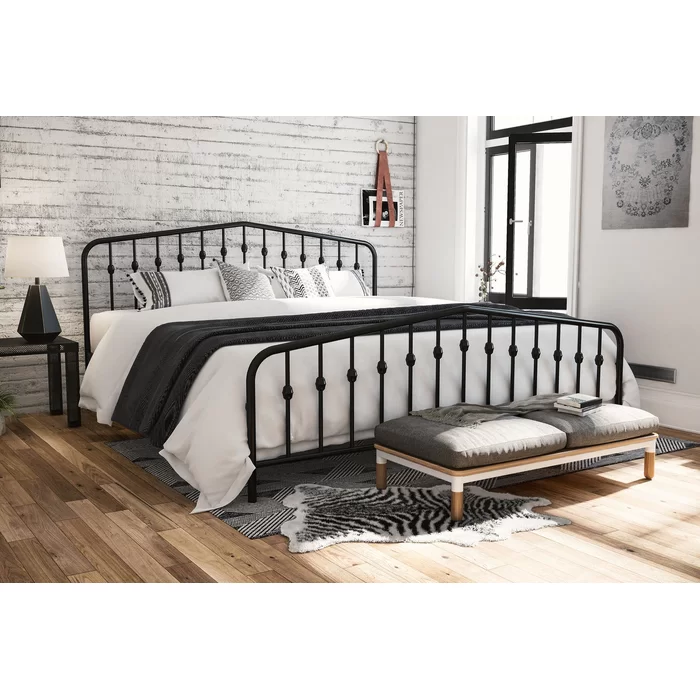 Bushwick Platform Bed Bed linen design, King metal bed