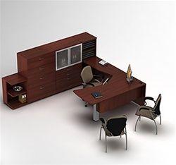 U Shaped Executive Desk Pink Student Desk