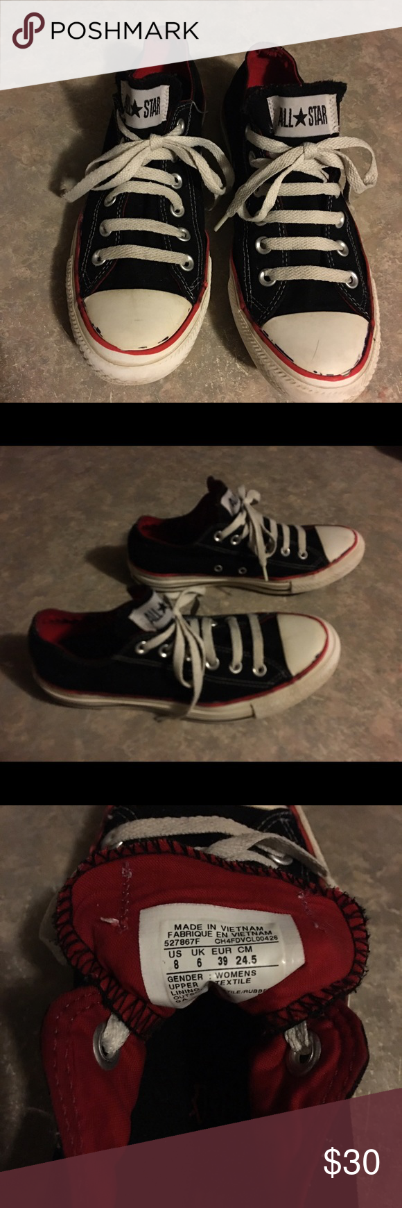 converse with red stripe on bottom