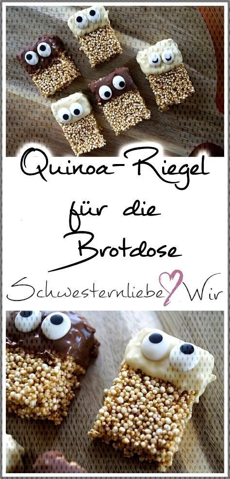 Kinderessen // Lustige Quinoa-Riegel für die Brotdose - SchwesternliebeampWir