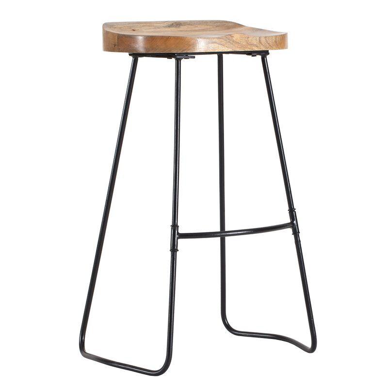 Crooke Solid Wood 30 Bar Stool In 2020 Bar Stools 30 Bar Stools Metal Bar Stools