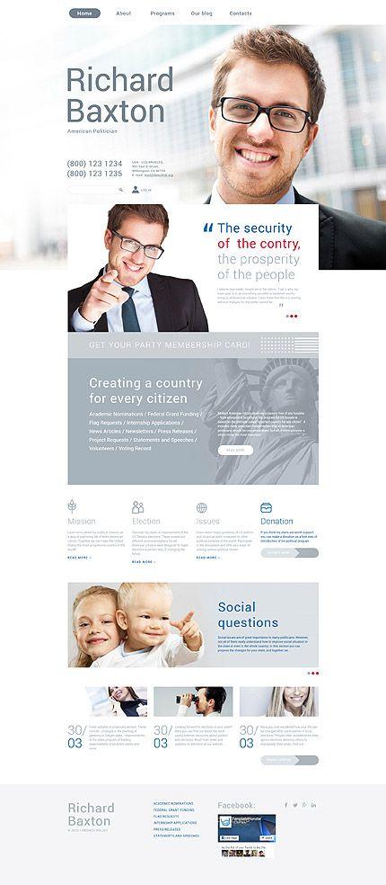 Politics Most Popular Drupal Template Pinterest - Political website templates