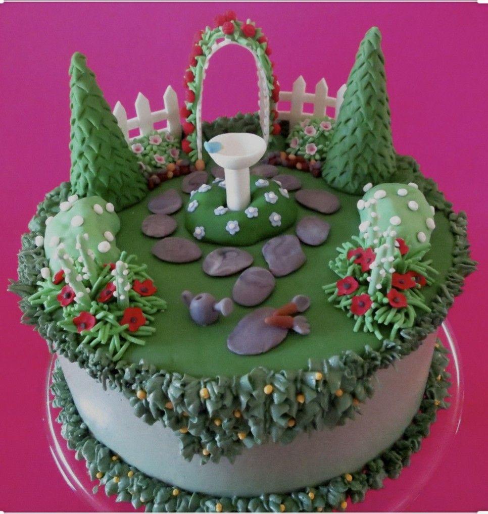Idea by Sam Emery on Cake commissions | Garden birthday ...