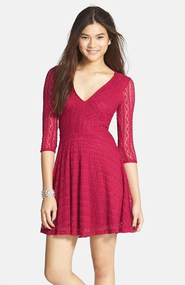 6d10f70caa3 Lush Lace Skater Dress available at  Nordstrom For the service  In blue