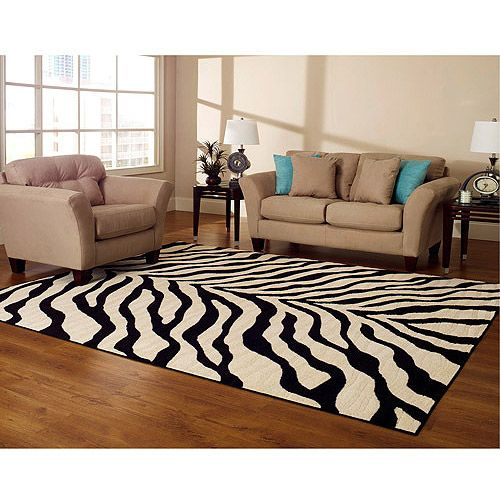 Hometrends Zebra Rug 8x10 Rugs In Living Room Living Room Carpet Cool Rugs