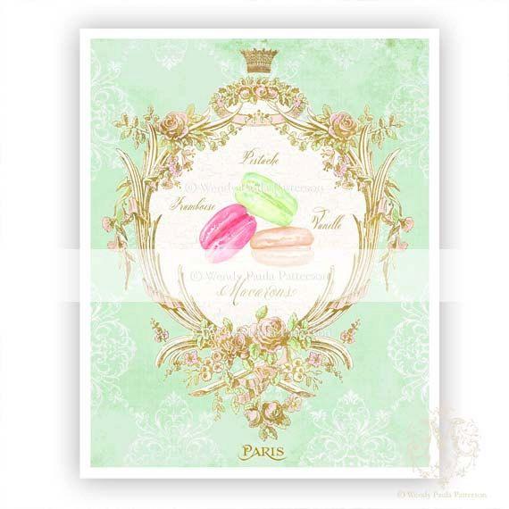 French Macaron Art Print Mint Green Ladur 233 E Inspired