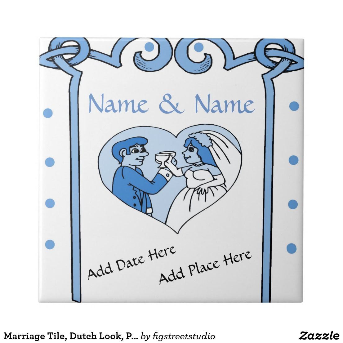 Marriage tile dutch look personalize ceramic tile delft marriage tile dutch look personalize ceramic tile dailygadgetfo Images