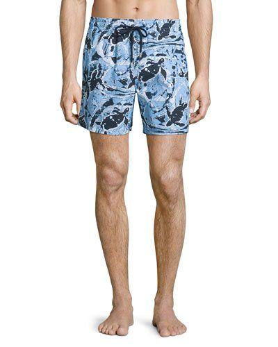 f83198e416535 Men s Fashion Styles · VILEBREQUIN MOOREA PAINT-SPLATTER PRINT SWIM TRUNKS