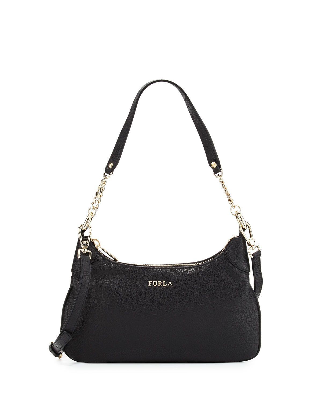 d7c64796685 Furla Julia Chain Small Leather Hobo Bag