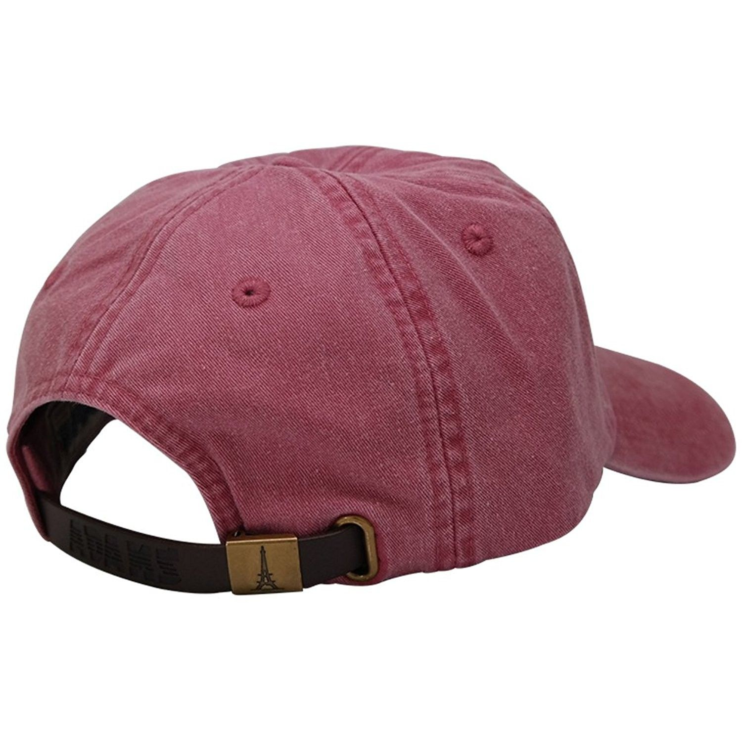 Sunbuster Extra Long Bill 100% Washed Cotton Cap with Leather ... 00b4611825c