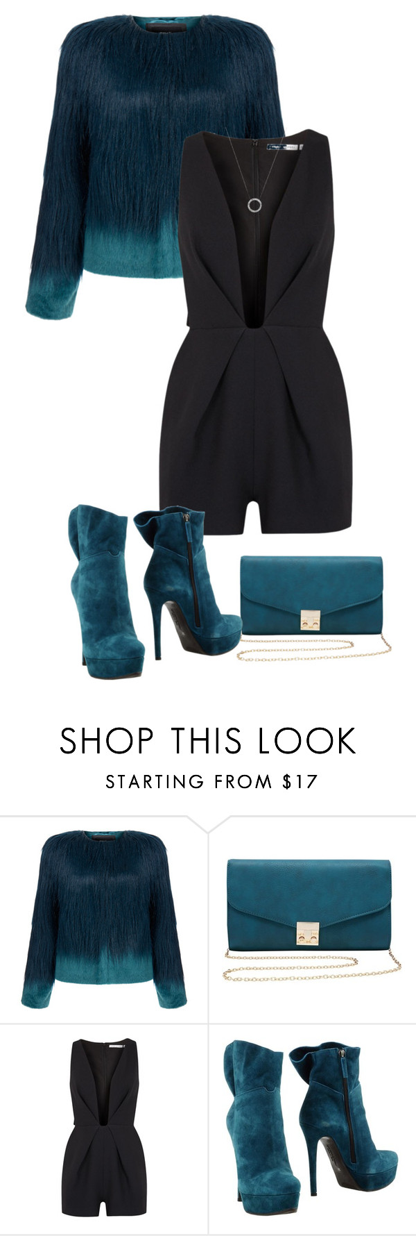 """""""DateNight"""" by kicsijahmeky ❤ liked on Polyvore featuring Unreal Fur, M&Co, Finders Keepers, Giancarlo Paoli, Michael Kors, michaelkors and fur"""