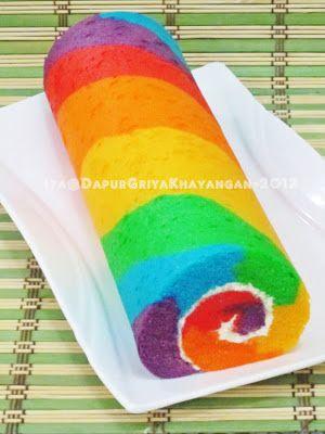 Dapur Griya Khayangan Bolu Gulung Kukus Rainbow Food Pinterest