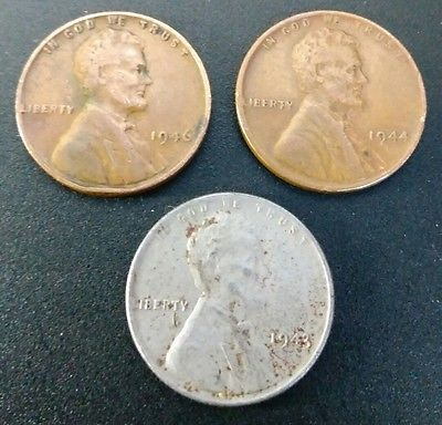 1943 1946 1944 Lincoln Cent Wheat Penny Set Includes 1943 Steel War Time Penny Valuable Pennies Penny Penny Coin