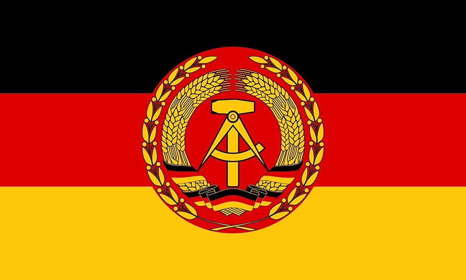 Mofan 3x5 Foot East Germany Flag Canvas Header And Double Stitched Army Of The German Democratic Republic 1956 1990 Fla East Germany Germany Flag German Army