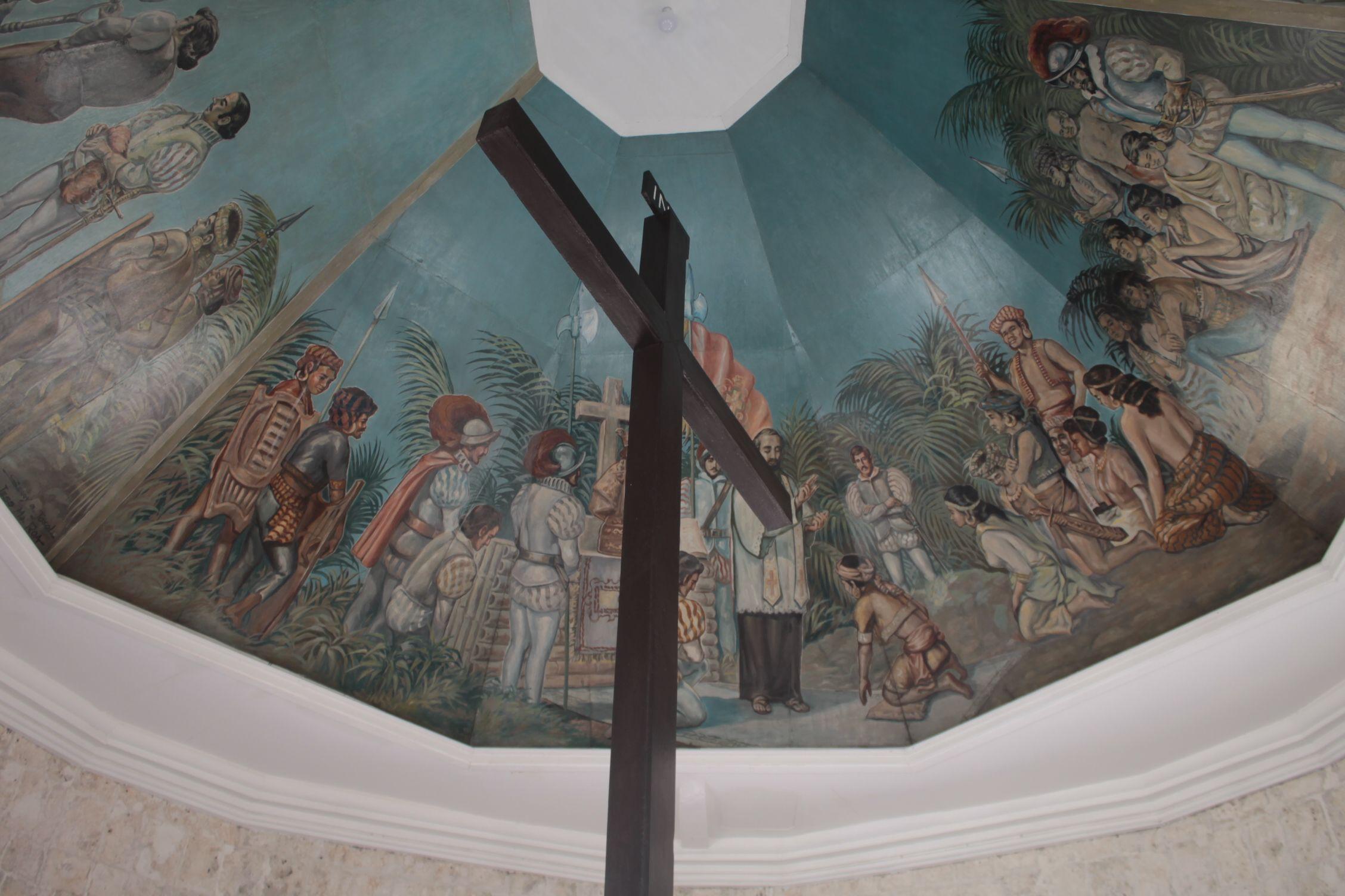 La cruz de magallanes en el mismo lugar donde se plantó