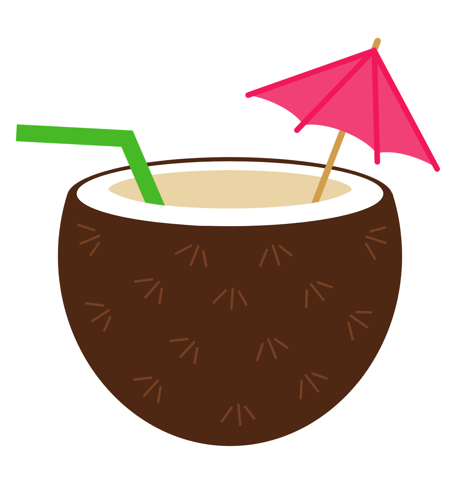 small resolution of coconut clipart luau flower
