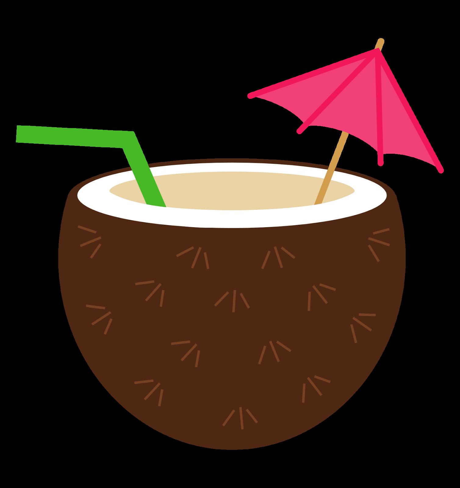 coconut clipart luau flower [ 1508 x 1600 Pixel ]