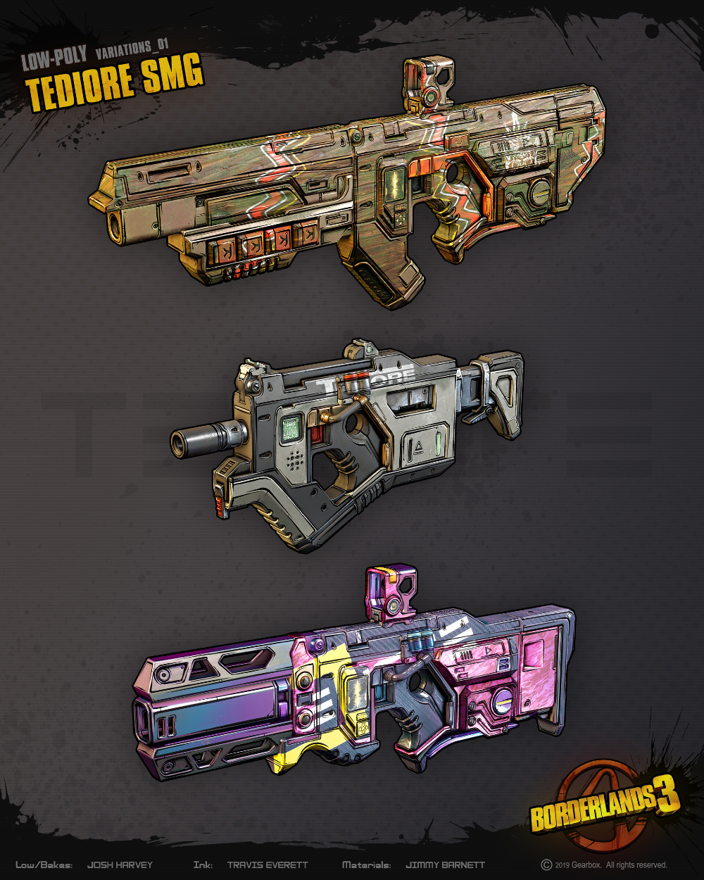 Artstation Borderlands 3 All Guns By Liquid Development Liquid Development Borderlands Borderlands Art Guns Artwork