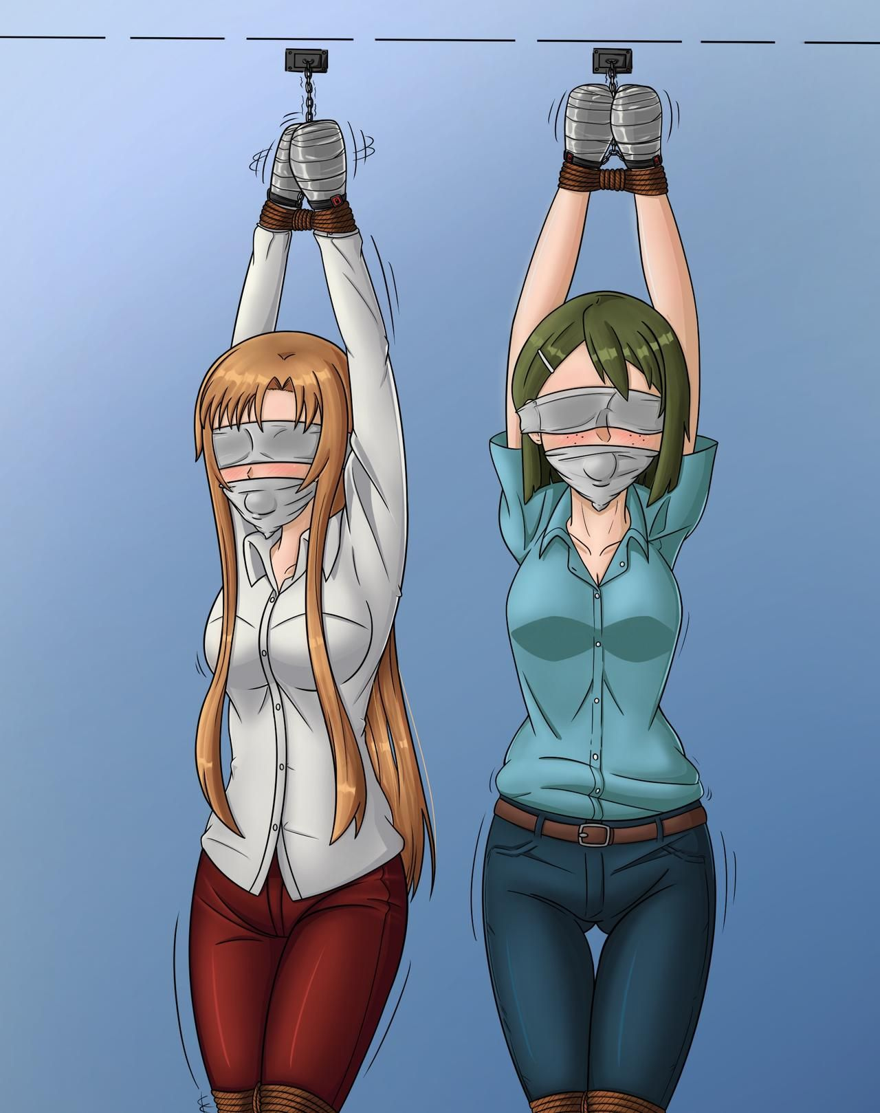 COLLAB : SAO Asuna and Rinko Part 3 by nathanhale1992 on
