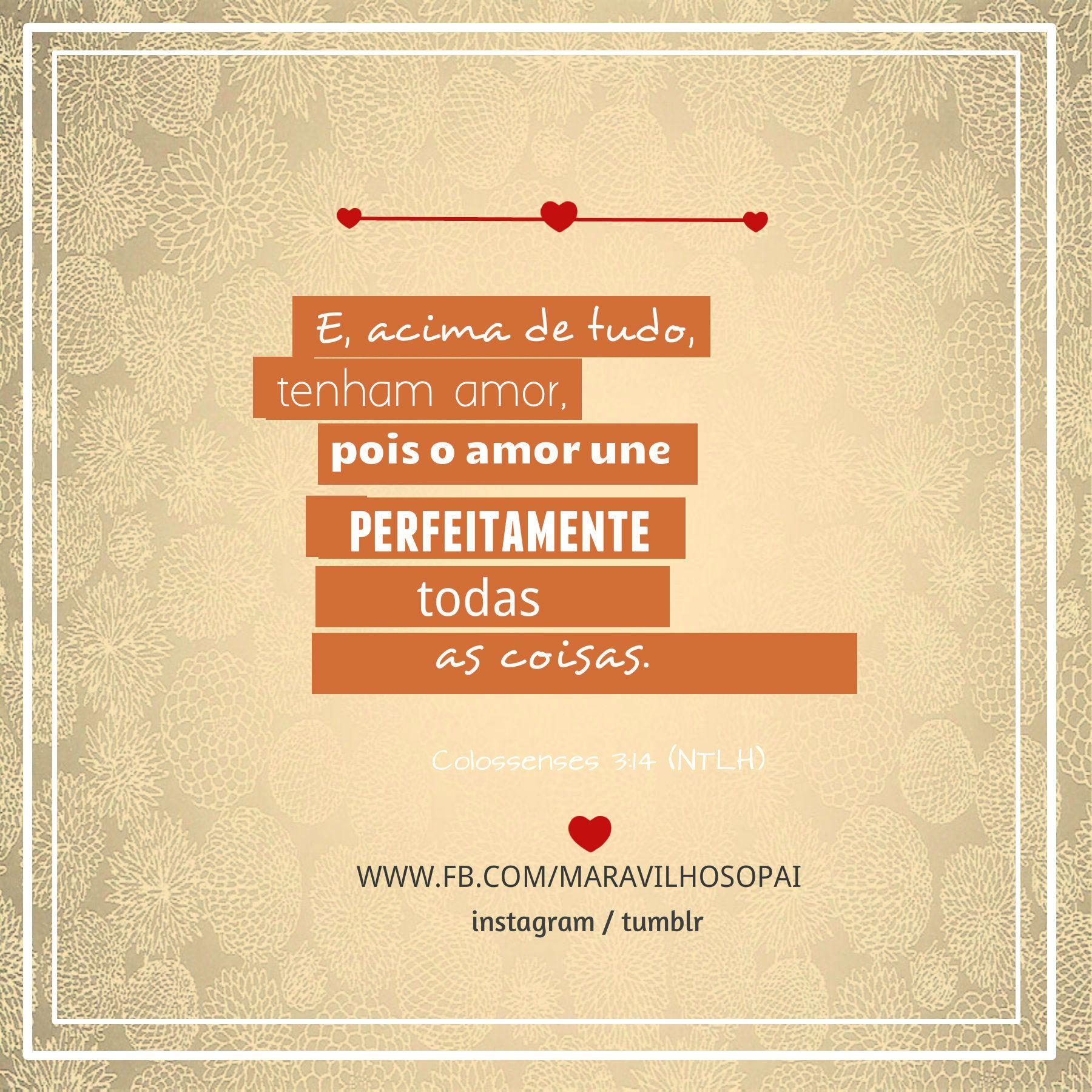 E Acima De Tudo Tenham Amor Pois O Amor Une Perfeitamente Todas