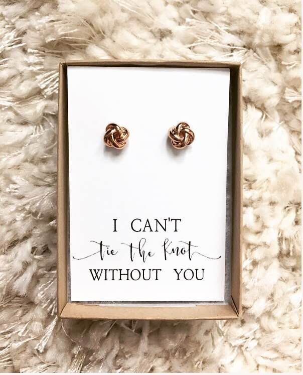 We can/'t tie the knot without you bridesmaid proposal rose gold tie the knot I can/'t tie the knot without you