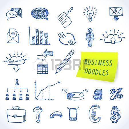 Doodle Business Set Of Finance Economy Marketing Decorative Icons Isolated Vector Illustration Stock Vector Doodles Vector Illustration Money Concepts