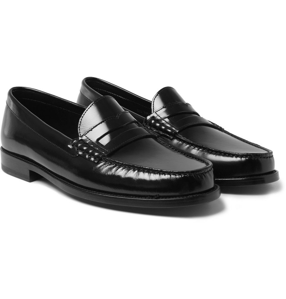 8c3e7e7398b81 Saint Laurent - Leather Penny Loafers | MR PORTER | Style Staples ...