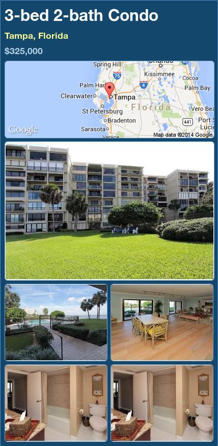 3-bed 2-bath Condo in Tampa, Florida ►$325,000 #PropertyForSale #RealEstate #Florida http://florida-magic.com/properties/76151-condo-for-sale-in-tampa-florida-with-3-bedroom-2-bathroom