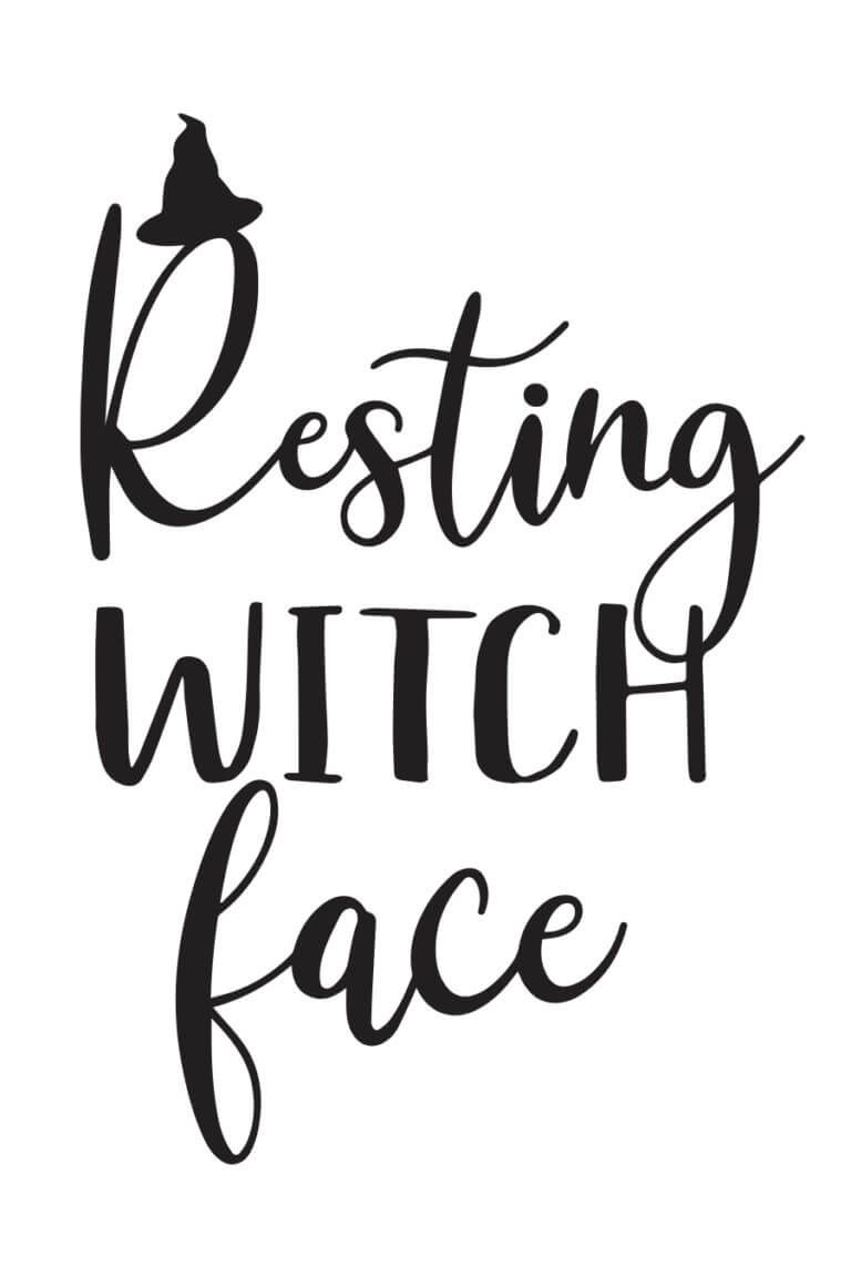Resting Witch Face Svg File Cricut Halloween Halloween Vinyl Cricut Svg Files Free