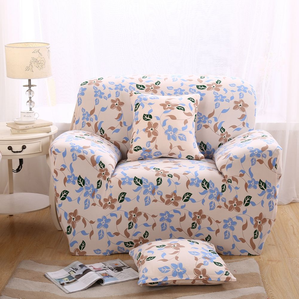 Stretch Polyester Sofa Cover Elastic Pastoral Corner Sofa Cover Fabric Cover  Sofa Slipcover Single Double Three