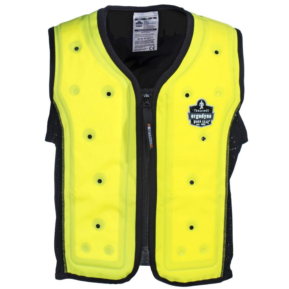 Ergodyne Vests Men S 6685 Lime Evaporative Cooling Vest Work