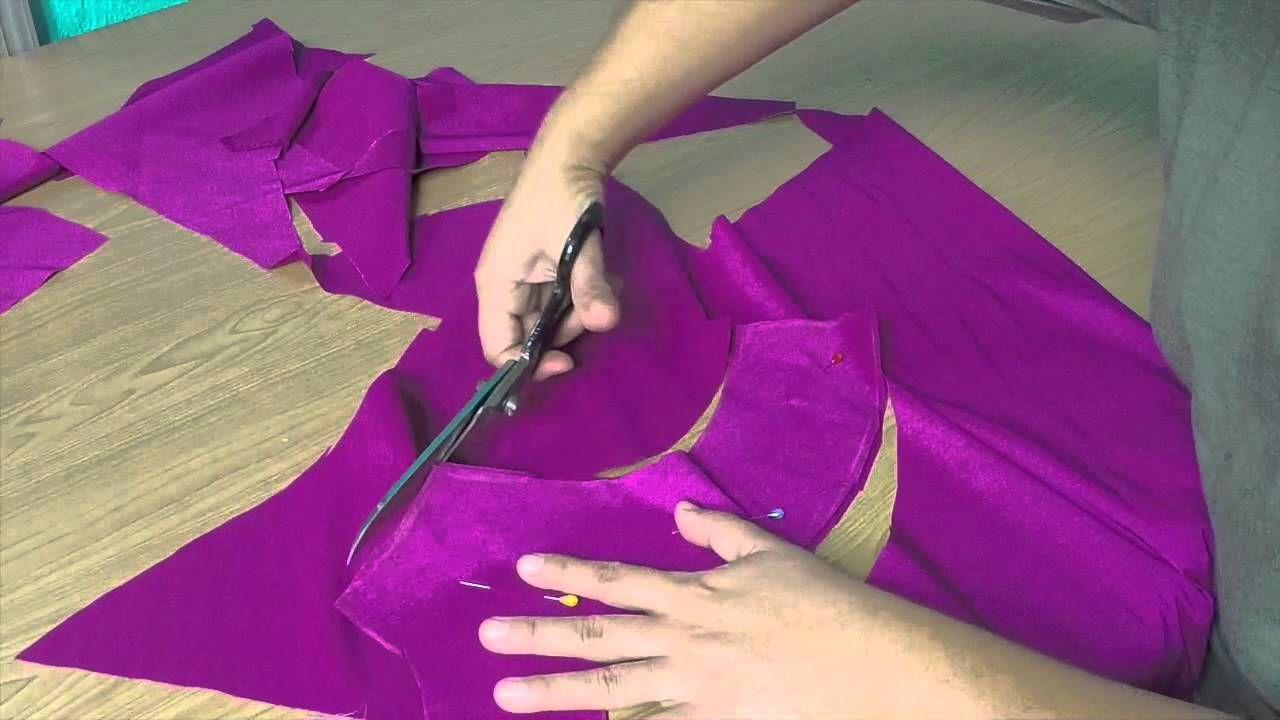 VESTSIDO DE CORTE IMPERIO   videos de costura   Pinterest   Costura ...
