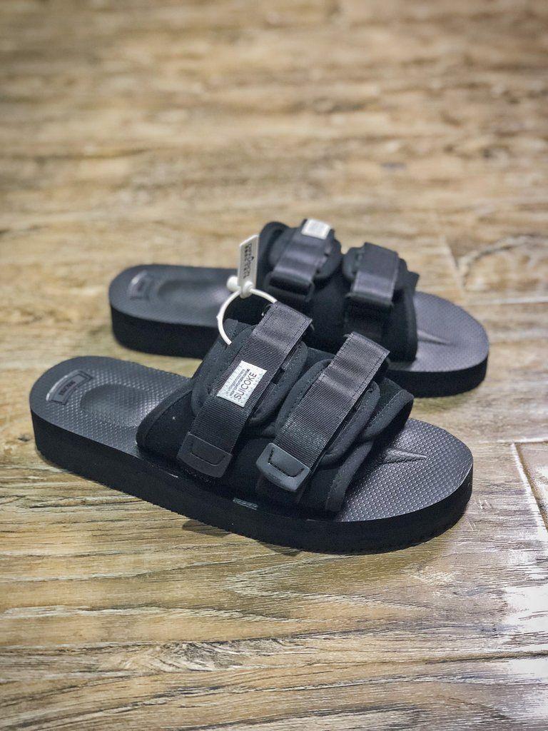Suicoke MOTO VS Sandals 'Black' | Black sandals, Sandals